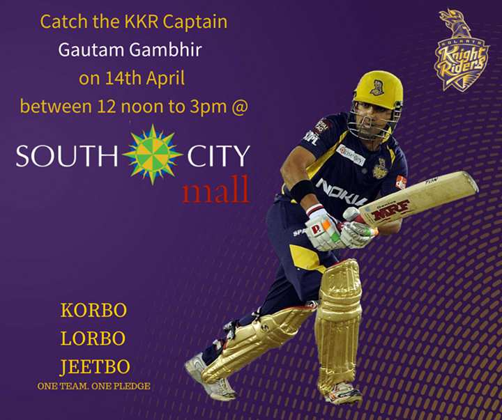 Catch Kkr Captain Gautam Gambhir At South City Mall