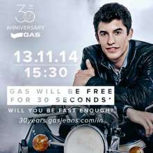 GAS Jeans 30th Anniversary - On 13.11.14 at 15.30 GAS will be Free for 30 Seconds !