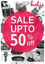 End of Season Sale - Upto 50% off at Holii stores from 4 January to 10 February 2013