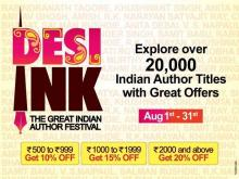 Desi Ink - The Great Indian Author Festival 1 to 31 August 2012 at Reliance TimeOut
