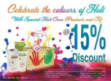 Celebrate the colours of Holi, Special Holi Care Products and Kit , The Nature's Co,  15% Discount , 25 to 28 March 2013