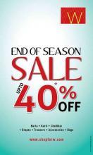 W for Woman End Of Season Sale, Upto 40% off, 4 July 2013, Kurta, Kurti, Drapes, Trousers, Accessories, Bags