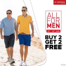 Central All For Men - Buy 2 Get 2 Free  29th - 30th June 2019