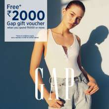Free Rs 2000 Gift Voucher when you spend Rs 6000 or more at GAP