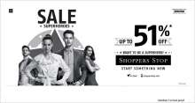 Be the Sale Superhero!  Up To 51% off Sale at Shoppers Stop  Begins on June 23, 2018