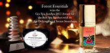 Forest Essentials wins the Geo Spa AsiaSpa 2011 Awards for the Best Spa Product with its Age Defying Facial Serum Soundarya